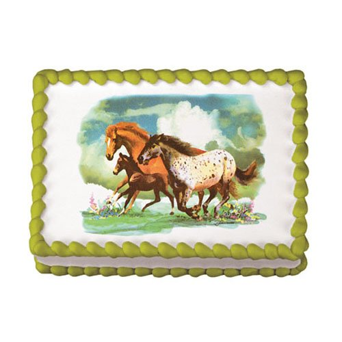 Wild Horses Edible Icing Image for 1/4 sheet (Horse Cake Decorations)