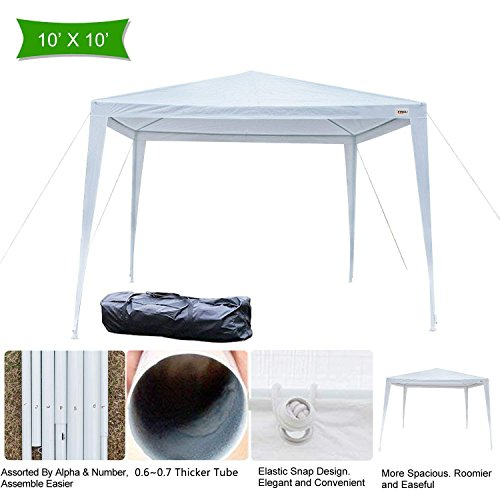 VINGLI 10′ x 10′ Outdoor Gazebo Canopy Tent, Portable Party Wedding BBQ Pavilion Canopy Catering Events Tent,Upgraded Thicken Tube,Gift with Carrying Bag Review