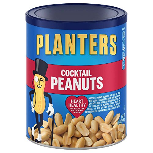 Planters Peanuts (Planters Cocktail Peanuts, Salted, 16 Ounce Canister (Pack of 3))