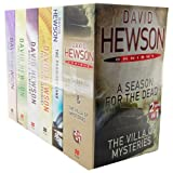 David Hewson 6 Books 7 Titles Pack Set Collection RRP 42.94 Omnibus Mysteries (The Lizard's Bite, The Garden of Evil, Dante's Numbers, The seventh Sacrament, The Promised land, A Season for the Dead & The Villas of Mysteries)