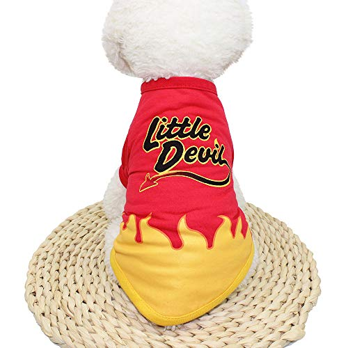 LowProfile Pet Shirt, Puppy Dog Little Devil Hot T Shirt Spring Fall Apparel Pet Clothing Puppies Doggie Apparel Red ()