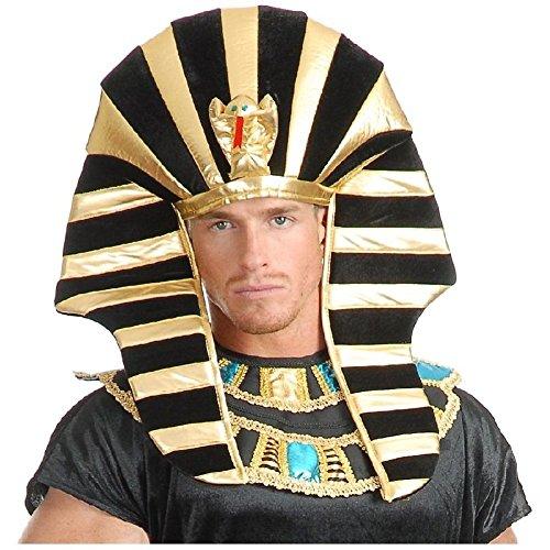 Egyptian Headpiece King Tut Pharaoh Sphinx Hat Costume Accessory Adult Halloween ()