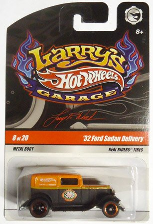 (2009 Hot Wheels Larry's Garage (Larry Wood) '32 FORD SEDAN DELIVERY ORANGE and BLACK #8 of 20 (standard, non-chase))
