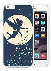 iPhone 6/6S Plus TPU Case ,Newest And Beautiful Designed Case With Forever Young Tinkerbell White iPhone 6/6S Plus Screen Case Good Quality Designed Phone Case