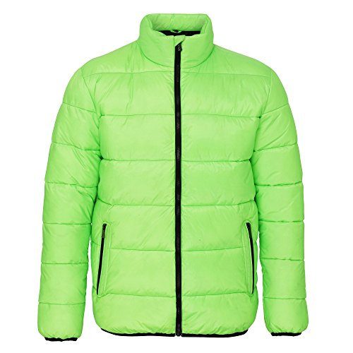 2786 Mens Venture Supersoft Padded Full Zip Jacket Lime / Black