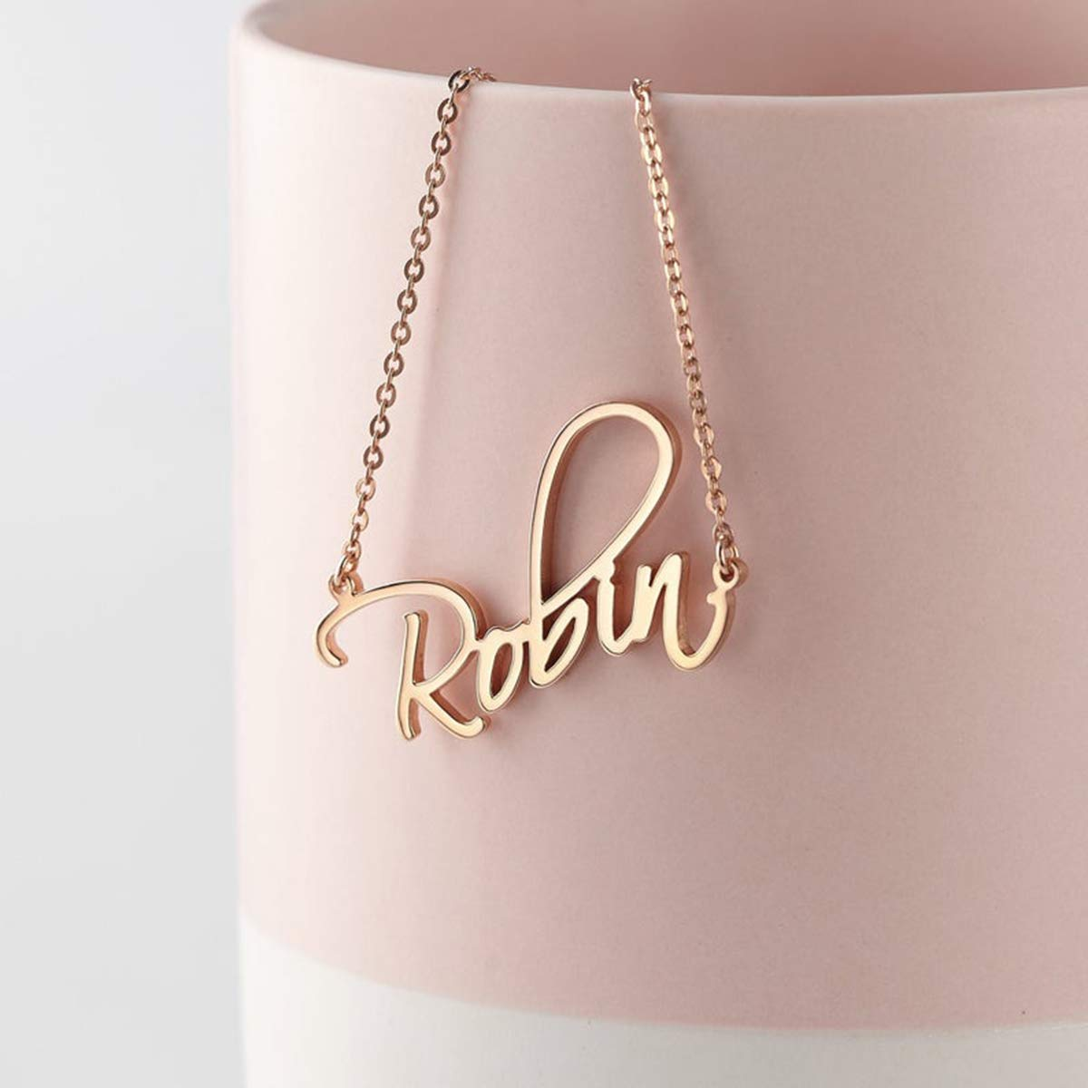 Necklace for Woman Gold Personalized Name Pendant Personalized Jewelry for Her,Personalized Name Custom Necklace Valentine Necklace Gift