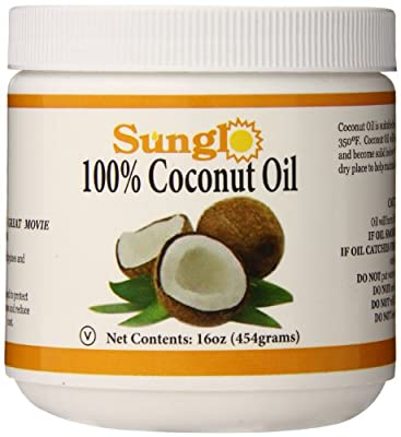 Sunglo 100% Coconut Oil, 16 Ounce from Great Western
