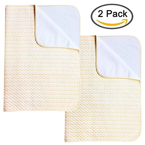 2 Pack Chair Pads (Ultra Waterproof Sheet and Incontinence Bed Pad, Mattress Protector for Toddler Children Adults (2 Pack))