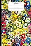 Unruled Composition Notebook. 6' x 9'. 120 Pages. Circles Pattern Cover: Colorful Circles Rings 3D Pattern Cover. Unruled blank notebook, sketchbook, ... Blank journal. Blank composition notebook.