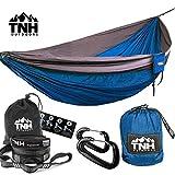 Singlenest Camping Hammock & FREE Tree Straps By TNH Outdoors - Single Parachute Hammocks For Hiking & Camping