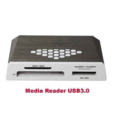 ZUEN Lector De Tarjetas Micro SD Lector De Medios USB3.0 CF ...