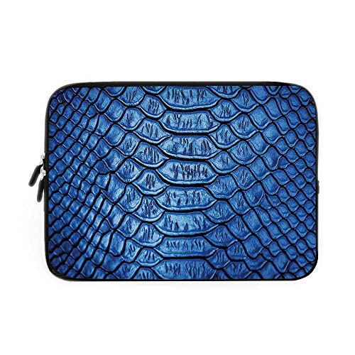 Animal Print Decor Laptop Sleeve Bag,Neoprene Sleeve Case/Colored Snake Skin Pattern Alligator Fancy Luxury Leather Clothing Artwork Home Decor/for Apple MacBook Air Samsung Google Acer HP DE