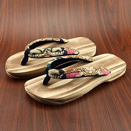 taglia 40 9b68c 8f31e In stile giapponese zoccoli in legno maschio e femmina modelli paio di  zoccoli di legno di legno uomini pantofole estivo di non-slip scarpe  zoccoli di ...