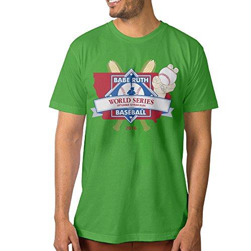 ^GinaR^ Men's Little League World Series Fashion Tee S KellyGreen