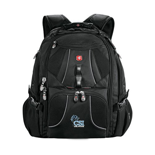 College of Staten Island Wenger Swiss Army Mega Black Compu Backpack 'Official Logo' by CollegeFanGear