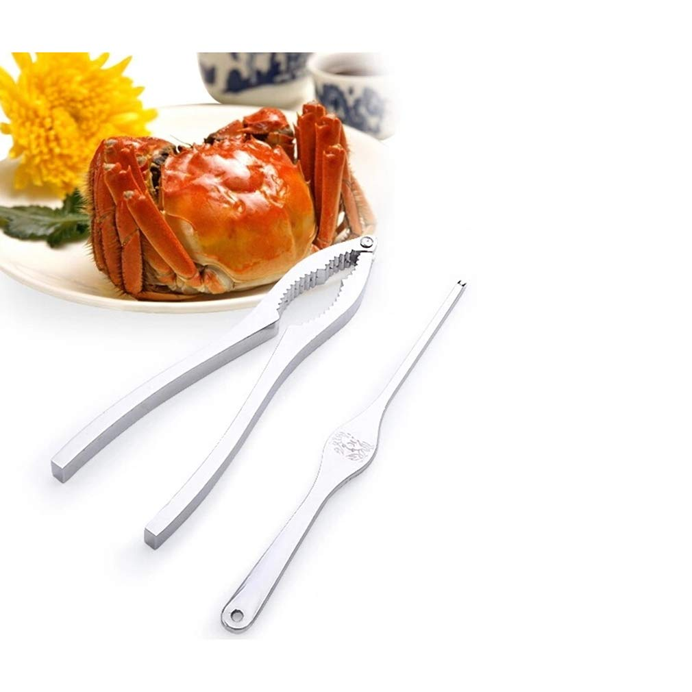 BeipeY 2 Piece Crab Pliers Needle Tool Set Professional Seafood Opener Auxiliary Tool Suitable for Eating Crabs