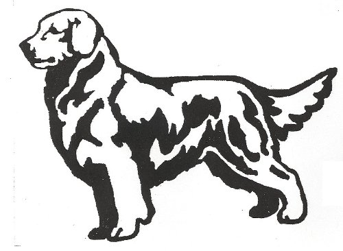 Dog Rubber Stamps - Golden Retriever-9J (Bold) Size:4