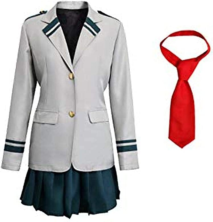 My Boku no Hero Cosplay Academia OCHACO URARAKA Coat Dress Uniforms Costume UK