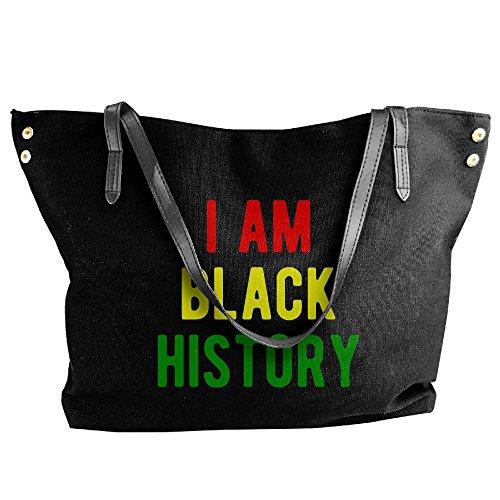 Handbag Shoulder I Women's Bag Am History Tote Hobo Large Black Tote Handbag Black Canvas Xt4xwr4I