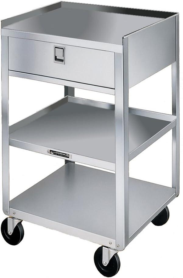 Lakeside 466 Stainless Steel Equipment Stand, 3 Shelves, 1 Drawer, 500 Lb Capacity