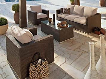 Salon de jardin Hespéride SAHARA Luxe: Amazon.fr: Cuisine ...