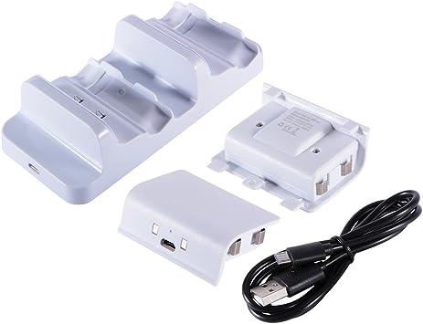 XCSOURCE® Dobe de Carga Dual del Muelle + 2pcs 300mAh batería Recargable con Cable USB para Xbox One/Xbox One S Controlador AC564: Amazon.es: Electrónica