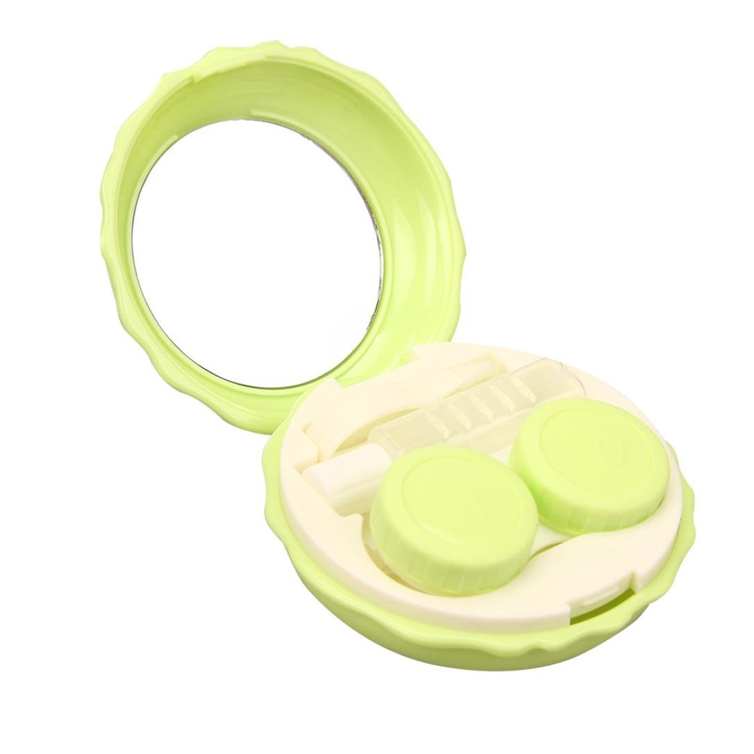 Green Transer Macaron Contact Lens Case Double Box Mini Beauty Pupil Rre Box