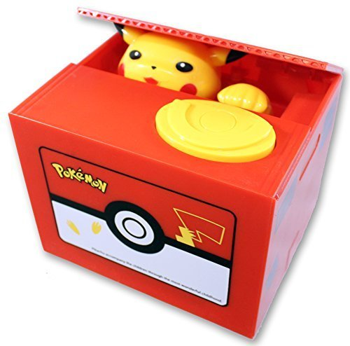 Pokemon Bank - Pikachu Mechanical Coin Bank For Kids - Awesome, Unique Toy For Pokemon Fans - Delights With Realistic Movements and Colorful Designs - Teaches Kids To Save - Perfect As Kids Birthday Presents