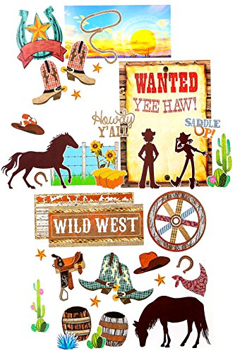 (Renewing Minds Goin' West Collection, Wild West Bulletin Board Set, Multi-Colored, 47)