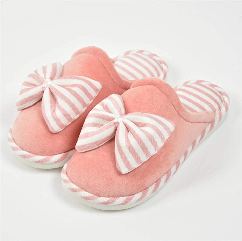 1 JaHGDU Women 's Home Cotton Slippers Indoor Keep Warm Casual Slippers bluee Pink orange Mixed color Personality Quality for Women