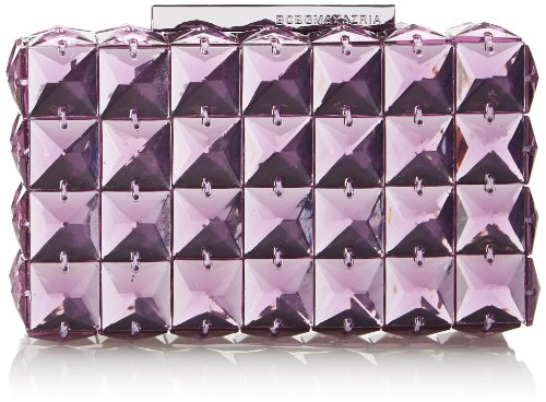 BCBG Lulu Square Stone Clutch,Light Lavender,One Size