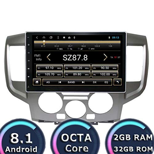 (ROADYAKO 2Din Android 8.1 Auto Video for Nissan NV200 2010 2011 2012 2013 2014 2015 Car Navigation Stereo Radio GPS 2GB RAM 32GB ROM WiFi 3G RDS Mirror Link FM AM)