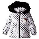 Hello Kitty Baby Girls' Polka Dot Jacket, Bright White, 12 Months