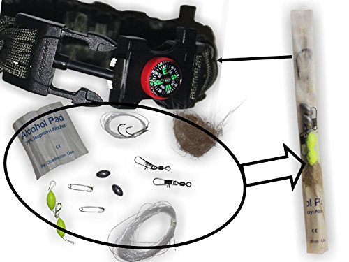Holtzmans-Paracord-Bracelet-Emergency-Kit-550-Parachute-Cord-Fire-Starter-Compass-Cutting-Tool-Fishing-Gear-Tinder-Whistle-Upgraded-Locking-Buckle-LIFETIME