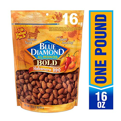 (Blue Diamond Almonds, Bold Habanero BBQ, 16 Ounce)