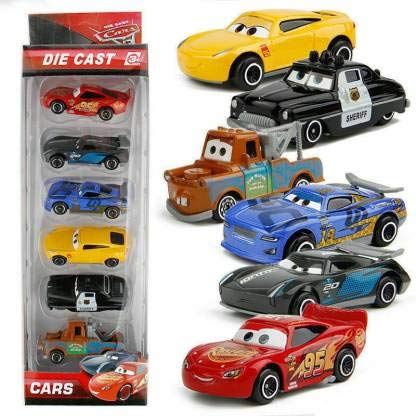 Bestie toys Metal Diecast Car, 6pcs, Multicolour