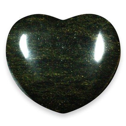 Dark Green Serpentine Crystal Heart ~45mm
