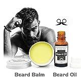 Facial Hair Development - Beard Grow   Facial Hair Supplement   #1 Mens Hair Growth Vitamins   For Thicker and Fuller Beard   Beard Balm   20ml Men's Beard Fluid+30g Beard Wax Set (colorful)