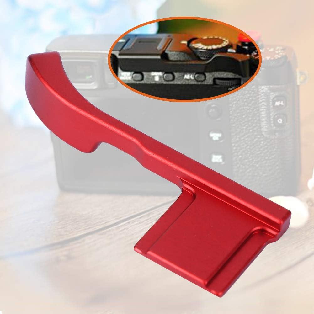 Serounder Camera Handbar,Portable Aluminum Alloy Hot Shoe Thumb Up Hand Grip for Fujifilm X-E3 X-E2S Camera Red