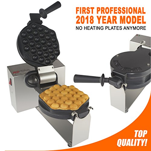 Bubble Waffle Maker Professional Rotated Nonstick ALD Kitche