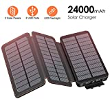 FEELLE Solar Charger 24000mAh Power Bank Portable