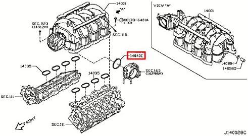 Fuel Injection Throttle Body Mounting Gasket Infiniti 16175-1LA0A