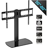 Fitueyes Universal TV Stand/Base Swivel Tabletop TV Stand with Mount for 50 to 80 inch Flat screen Tvs/xbox One/tv Component/Vizio Tv TT107004GB