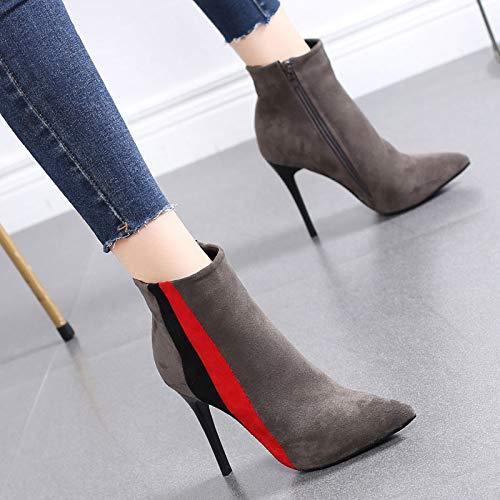 HRCxue Pumps Mode Farbabstimmung Damenschuhe Martin Stiefeletten Damen High Heel Stilett Stiefel Stiefel