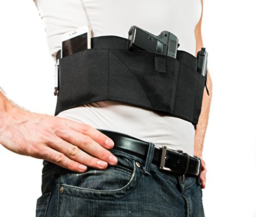 Graystone Stone (Belly Band Holster for Concealed Carry | Black | Gun Concealment Holster IWB CCW For Men and Women (Small 31