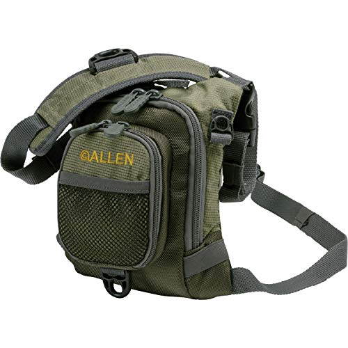 Allen Bear Creek Micro Fishing Chest Vest, Olive small fly fishing chest vest