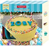 Handstand Kitchen 30-piece Real Party Cake Baking Set for Kids with Alphabet Fondant Cutters