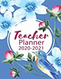 Teacher Planner 2020-2021: Calendar Schedule Organizer and Journal Notebook With Inspirational Quotes And Navy Lettering Cover (July 2020 through June 2021) 8.5 x 11 inches 150 Pages