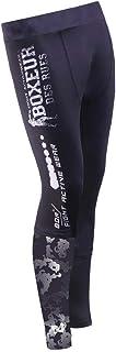 BOXEUR DES RUES Serie Fight Activewear, Leggings in Tessuto Tecnico Elasticizzato Uomo