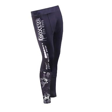 e47c8aaf43 BOXEUR DES RUES Men's Bxt-1793 Leggings: Amazon.co.uk: Clothing